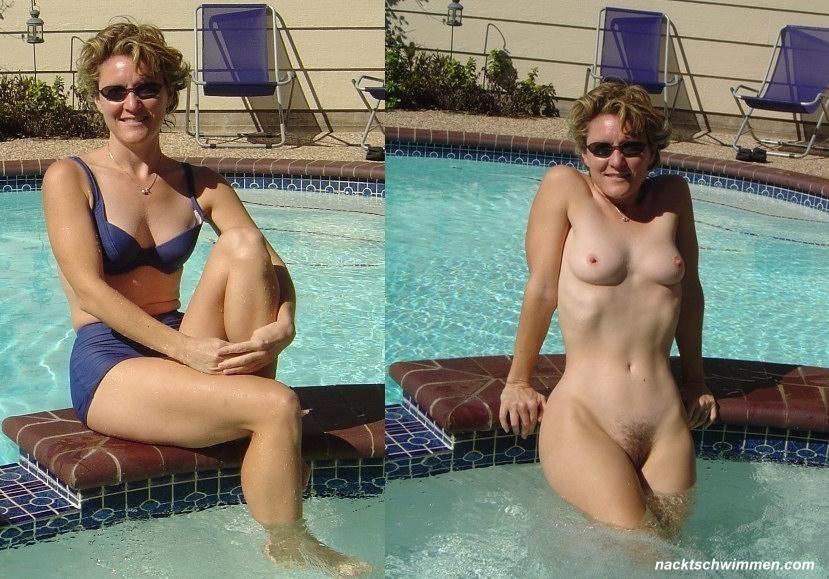 Frauen Nackt Schwimmen