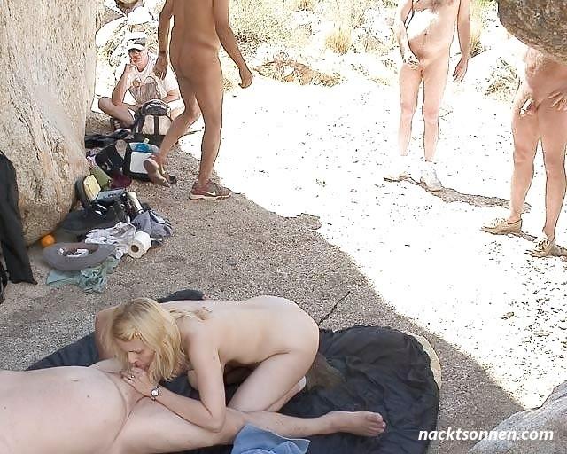 Pärchen fkk Blondchen beobachtet